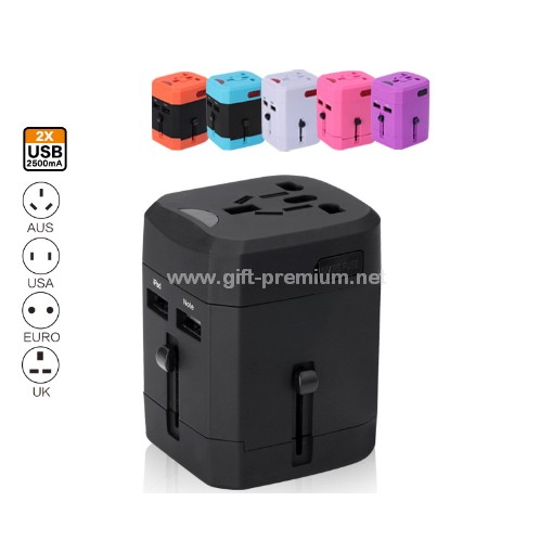 2 USB Travel Adapter ( Fused )