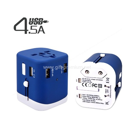 Type C + 3 USB Travel Adapter ( Fused )