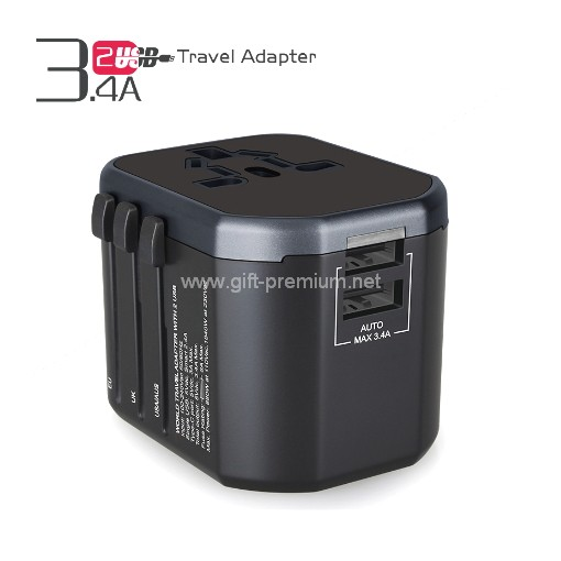 2 USB Travel Adapter (Fused)