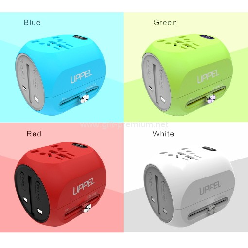 Type C + 1 USB Travel Adapter (Fused)